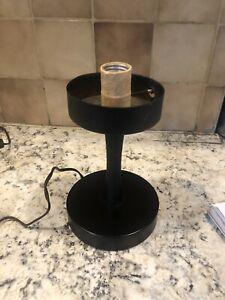 VINTAGE MID CENTURY LAUREL MUSHROOM Style Black  TABLE LAMP