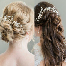 Women/Girl Wedding Bridesmaid Crystal Pearl Flower Headpiece Hair Pin Stick Love