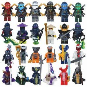 Personnages Ninjagos Figurines Minifigures Ninja Kai Jay LLoyd Zane Wu Serpents