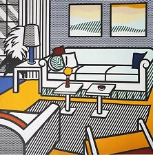 Roy Lichtenstein, Interior with restful paintings 1991 Hand Signed Lithograph