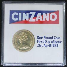 More details for 1983   elizabeth ii £1 one pound in cinzano presentation case   coins   km coins
