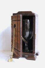 TOAST TO HOUDINI Glass Goblet Wood Box Illusion Stage Magic Trick Chain Escape