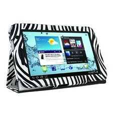 PU Leather Folio Zebra Print Case Cover Folio For Samsung Galaxy Tab 2 7.0 P3100