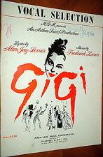 GIGI Vocal Selection vintage BOOK