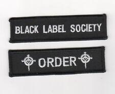 BLACK LABEL SOCIETY PATCH SERIES: BLACK LABEL SOCIETY SDMF BLS +ORDER+ 2-TAB SET
