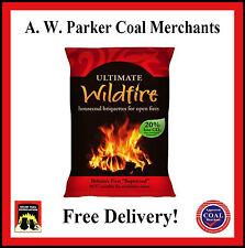 Wildfire House coal Briquette Half Tonne pre packed 25 x 20kg bags ton