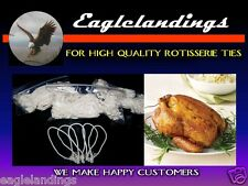 "25 3"" Rotisserie Chicken Poultry Elastic Ties - String"