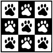 30 Custom Black Paw Print Art Personalized Address Labels