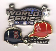 2004 World Series Boston Red Sox St Louis Cardinals Pin #1 Mint On Card