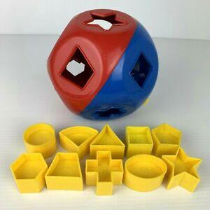 Tupperware Shape O Ball Sorting Ball Complete 10 Shapes ShapeO Shape-O Toy