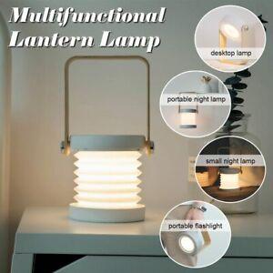 Portable Telescopic Folding Night Light Chargeable Handle Lantern LED Table Lamp