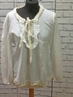 Vintage Style Boo Radley Bow Womens Long Sleeved Blouse Size 12