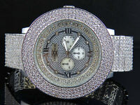 Mens Khronos Joe Rodeo Techno Bling Master White Lab Simulated Diamond Watch