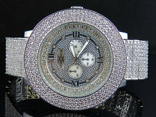 Mens Khronos Joe Rodeo Techno Bling Master White Lab Simulated Diamond Watch