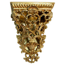 Regency Gold Sconce Corbel Bracket Extra Large Ornate French Florentine Tole