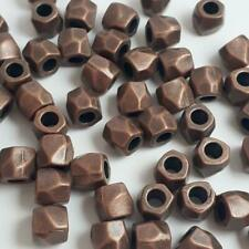 10pcs Antique Copper Barrel Faceted Spacer Beads 8x7mm Crafts - B0100873