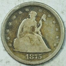 1875 S Seated Liberty 20c Piece Very Good VG