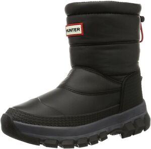 New Women's HUNTER Black Original Waterproof Insulated Short Snow Boots Size 9