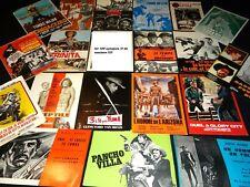 rare lot , collection de 105 synopsis cinema de western !!!!