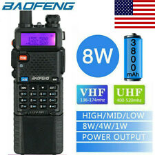 Baofeng UV-5R 8W 3800mah Two Way Radio VHF UHF FM Transceiver Ham Walkie Talkie