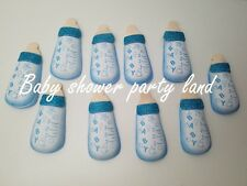 10 Baby Shower Blue Foam Bottles Party Decorations its a Boy Favors Prizes Gifts