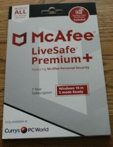 McAfee LiveSafe Premium+ 1 year subscription