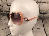 Vintage 1980s Drop Arm Peach Ombre Retro Sunglasses
