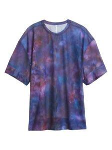 ATHLETA Mesh Oversized Print Tee Supernova M 8/10 New Retail $54