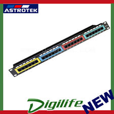 Astrotek CAT6 UTP Patch Panel 24 Port PCB Type 110 IDC Type with Color Frame