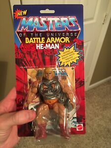 Masters Of The Universe Custom Carded Battle Armor He Man Nice!!!