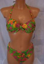 ★ EROS ★ 36/38 ~ S ~  Fb. grün ~ Sexy Triangel-Bikini ~ Bikini  vorgeformte Cups