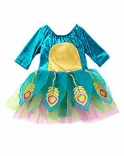 NWT 12-18 Gymboree BABY PEACOCK 5-Pc COSTUME SET WINGS Tights Suit Hat Specter