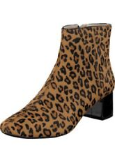 Clarks Chinaberry Bay Leopard Leather Low Ankle Boots 6 / 39.5