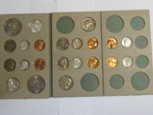 1955 Double Mint Set P, D, S - All Original Coins - Beautiful Toning - #6351