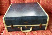 Vintage Samsonite Schwayder Brothers Blue Marble Suitcase Luggage 18x18x9
