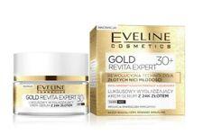 EVELINE COSMETICS GOLD REVITA EXPERT 30+ FACE SMOOTHING CREAM SERUM 24K GOLD