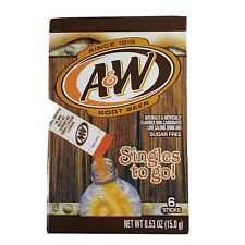 A&W Singles To Go Powder Packets - Sugar Free, Non-Carbonated Root Beer Water...