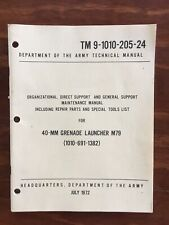 US Vietnam War Era M79 Manual 1972 61 Pages Obsolete