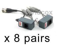 8 Pairs (Video Power Audio) Balun BNC to Cat5e Cat6 UTP for CCTV Security Camera