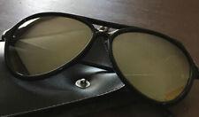 Vintage I-Ski Mirrored Aviators Sunglasses Blue With Case