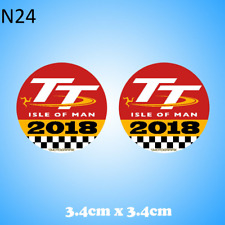 Isle of Man TT 2018 2 x Gel Badge Sticker
