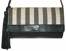 CALVIN KLEIN Black/Gray  Leather/Canva Handbag  Shoulder bag  Cross Body Clutch