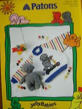 PATONS 5099 - CHILDS DK JELLYBABY RAGLAN SWEATER & TOY KNITTING PATTERN 18/24in