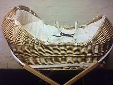 wicker pod snug Noah dimple moses basket cream dressing set luxurious dressing
