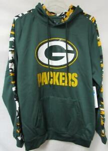Green Bay Packers Men's Size Medium Camo Accent Hoodie Sweatshirt C1 1964