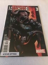 Marvel Comic Ultimate Nightmare #3. Signed By Steve Epting