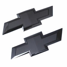 For 2018-2020 Silverado 2500 Black Front Grille+Tailgate Bowtie Emblem Badge SET