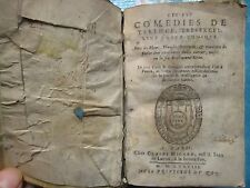 BOURLIER : LES SIX COMEDIES DE TERENCE, 1583.