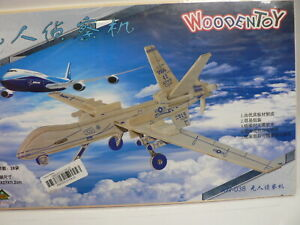 Scouting Drone 3D Wooden Puzzle Aeroplane Building Model DIY Toy Children