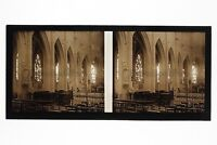 Montfort-L De Amaury Interior Iglesia Francia Foto C8 Estéreo Placa Cristal 1927